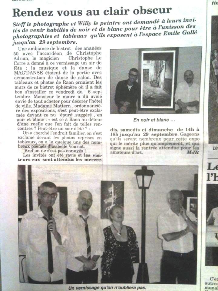 Echo des Vosges le 12 septembre 2013
